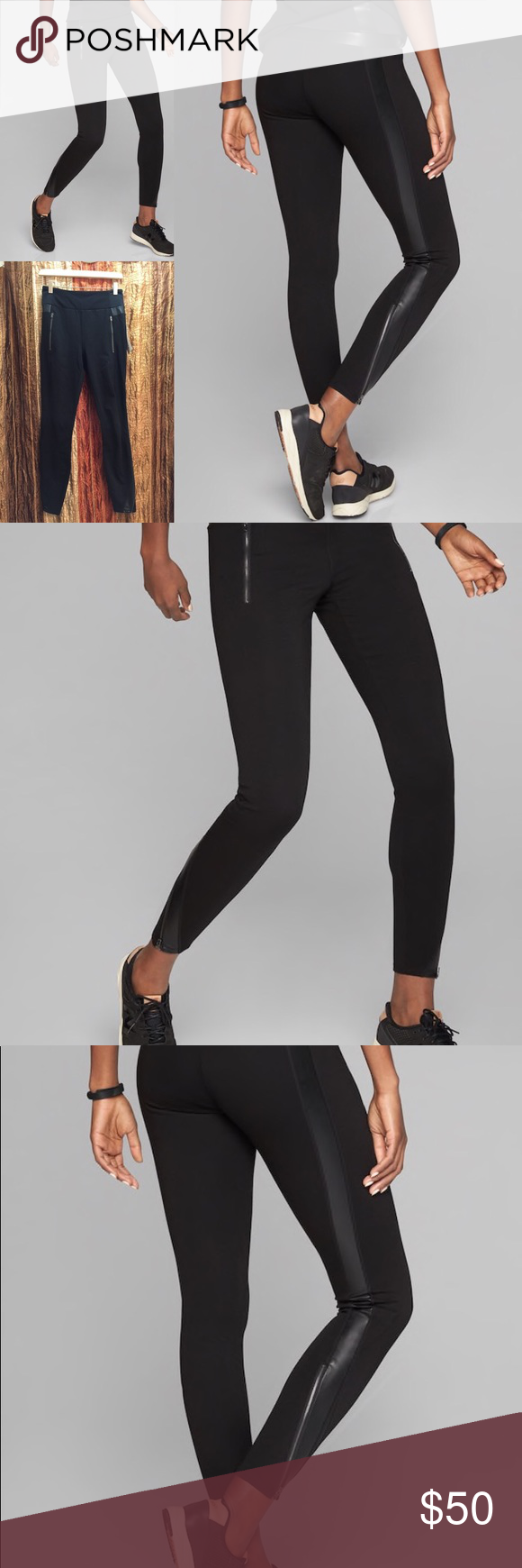 5080272ca12d02 Athleta Luxe Ponte Legging Fitted, High rise Fits next to the skin, Sits  just