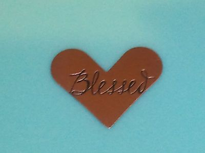 """AUTHENTIC ORIGAMI OWL HEART """"BLESSED"""" PLATE~ NEW ~ SILVERTONE"""