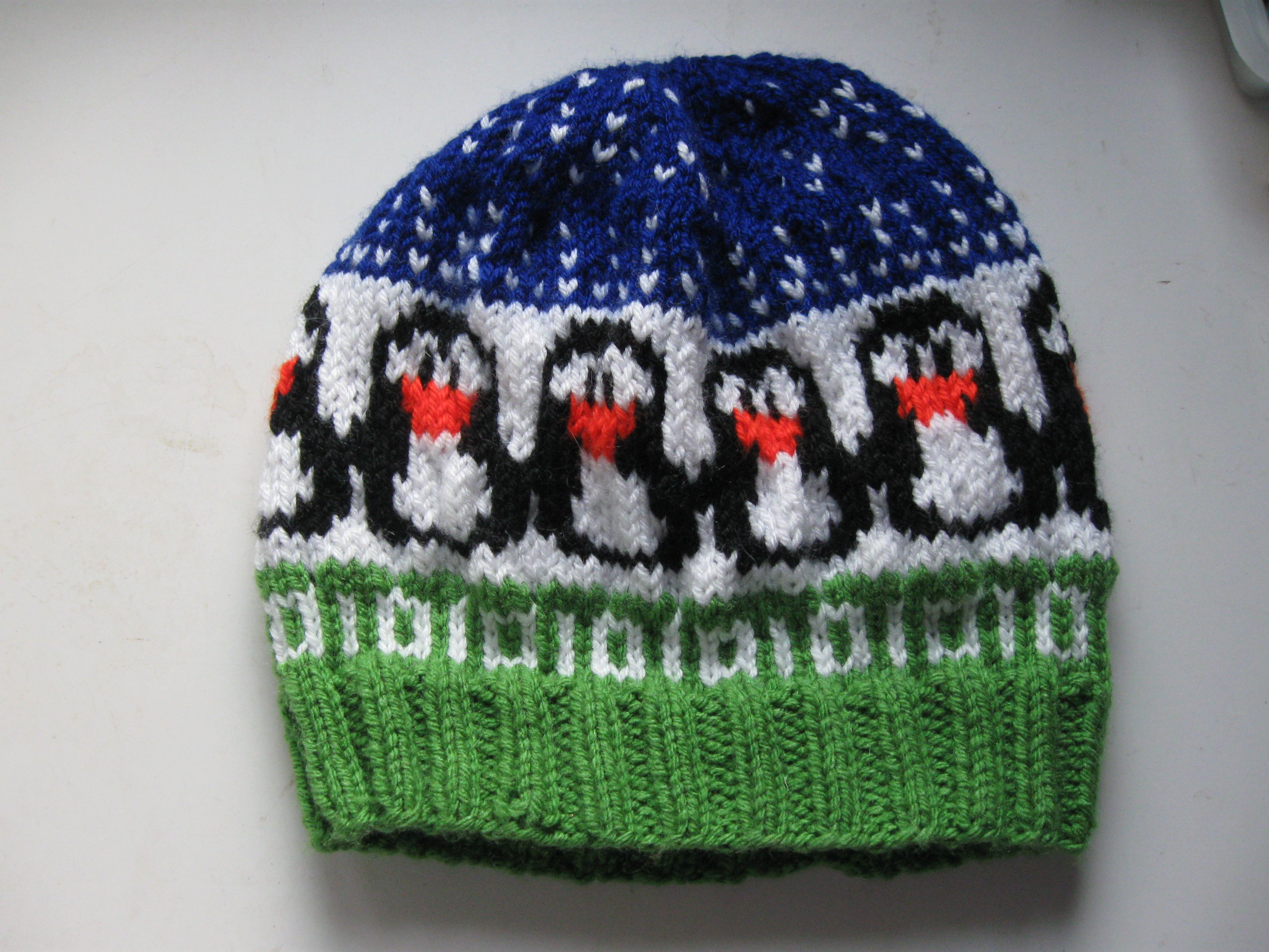 One of my penguin hats. Knitted. | pics | Pinterest | Penguin hat ...