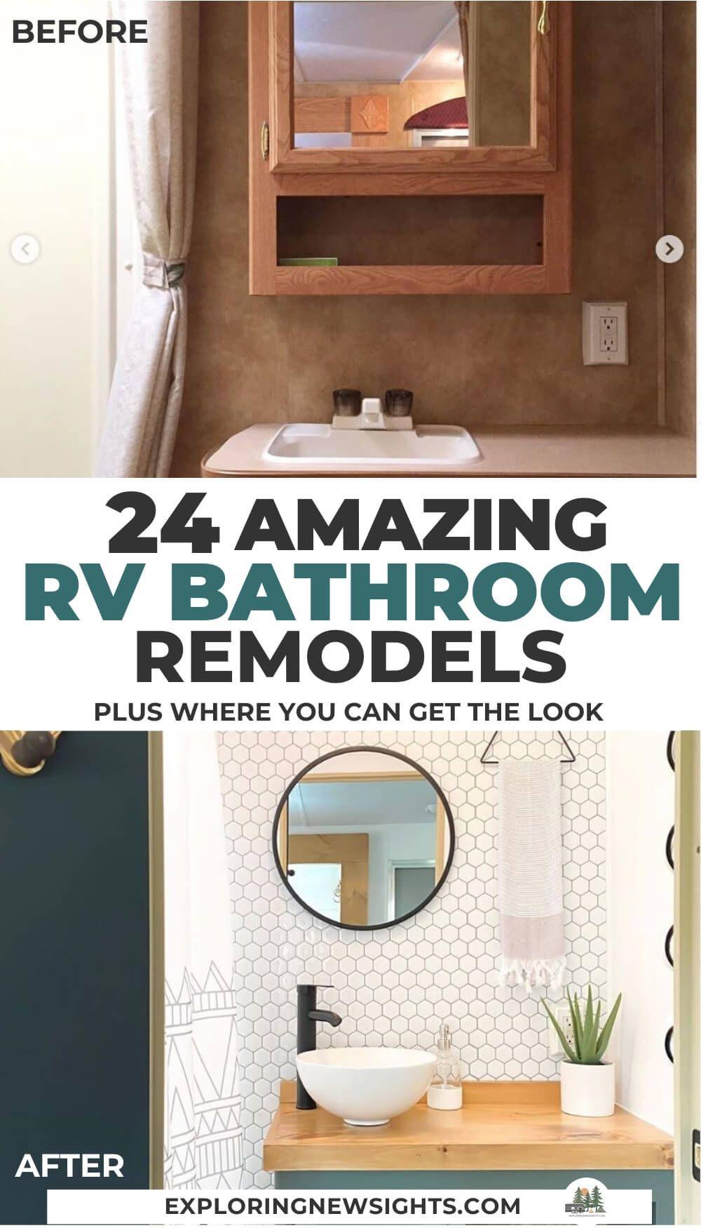 Rv Bathroom Renovation Diy, Trailer Bathroom Remodel