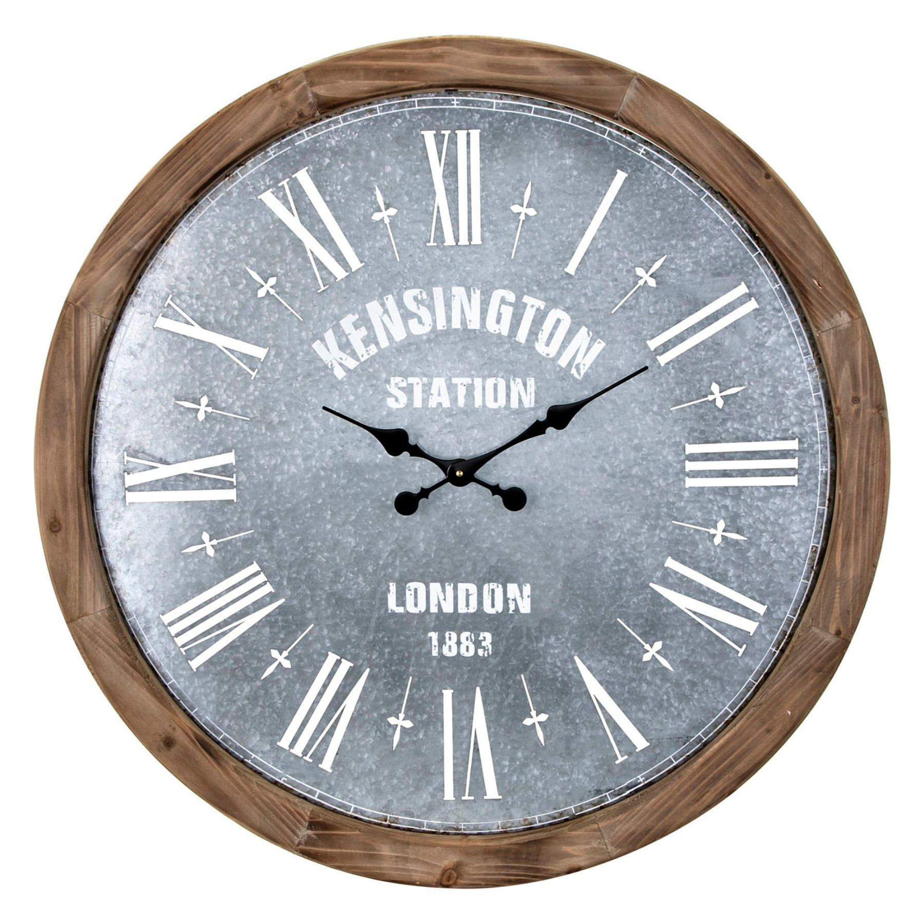 Imax Grant Oversized Wall Clock 30w X 30h In 16302 Clock Rustic Wall Clocks Clock Decor