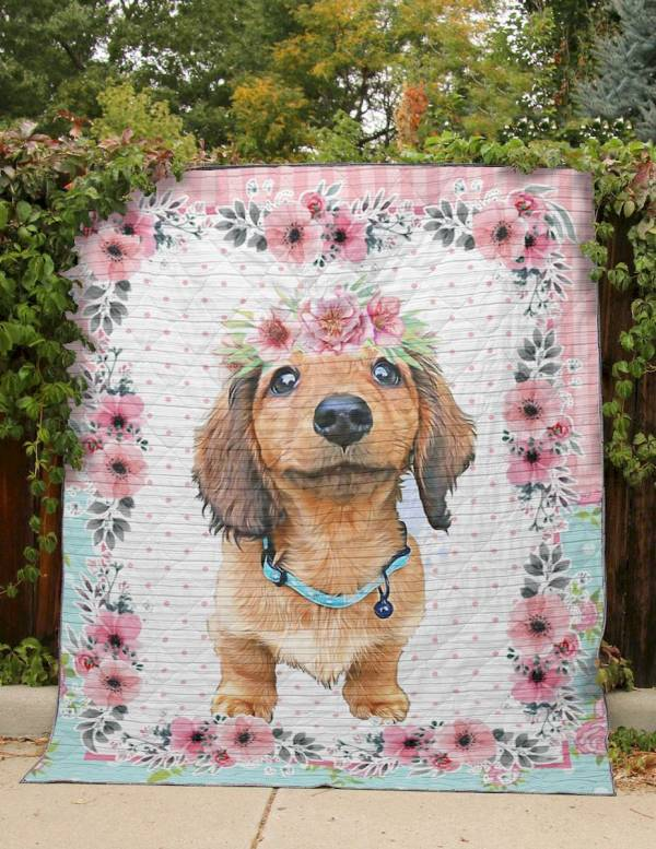 christmas quilt Dachshund Christmas quilt holiday quilt baby christmas blanket dog blanket