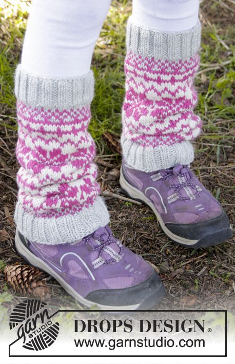Forest Dance Legwarmers by DROPS Design. Free knitting pattern ...