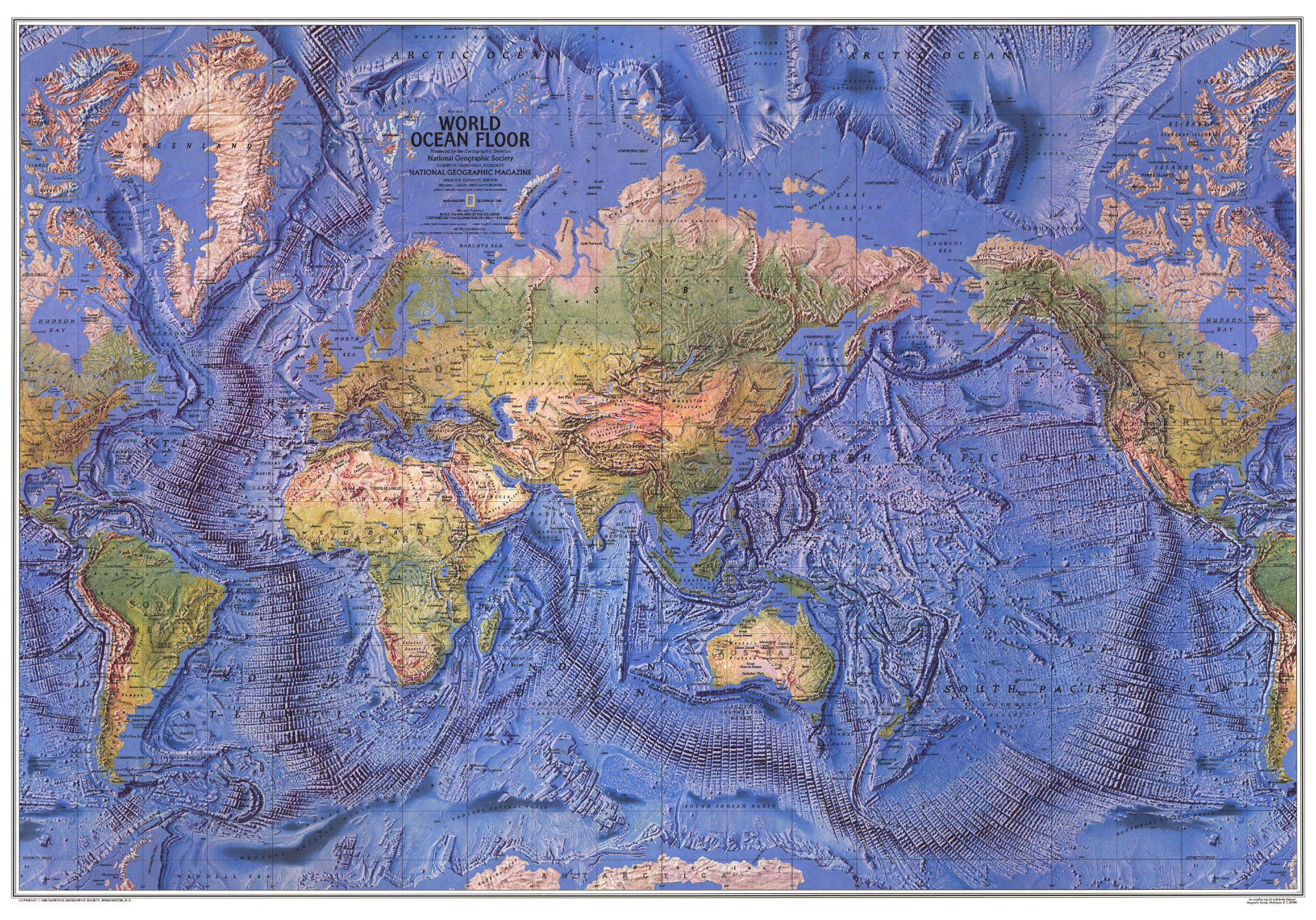 World Ocean Floor Map Ocean And Wall Maps - The physical world map oceans