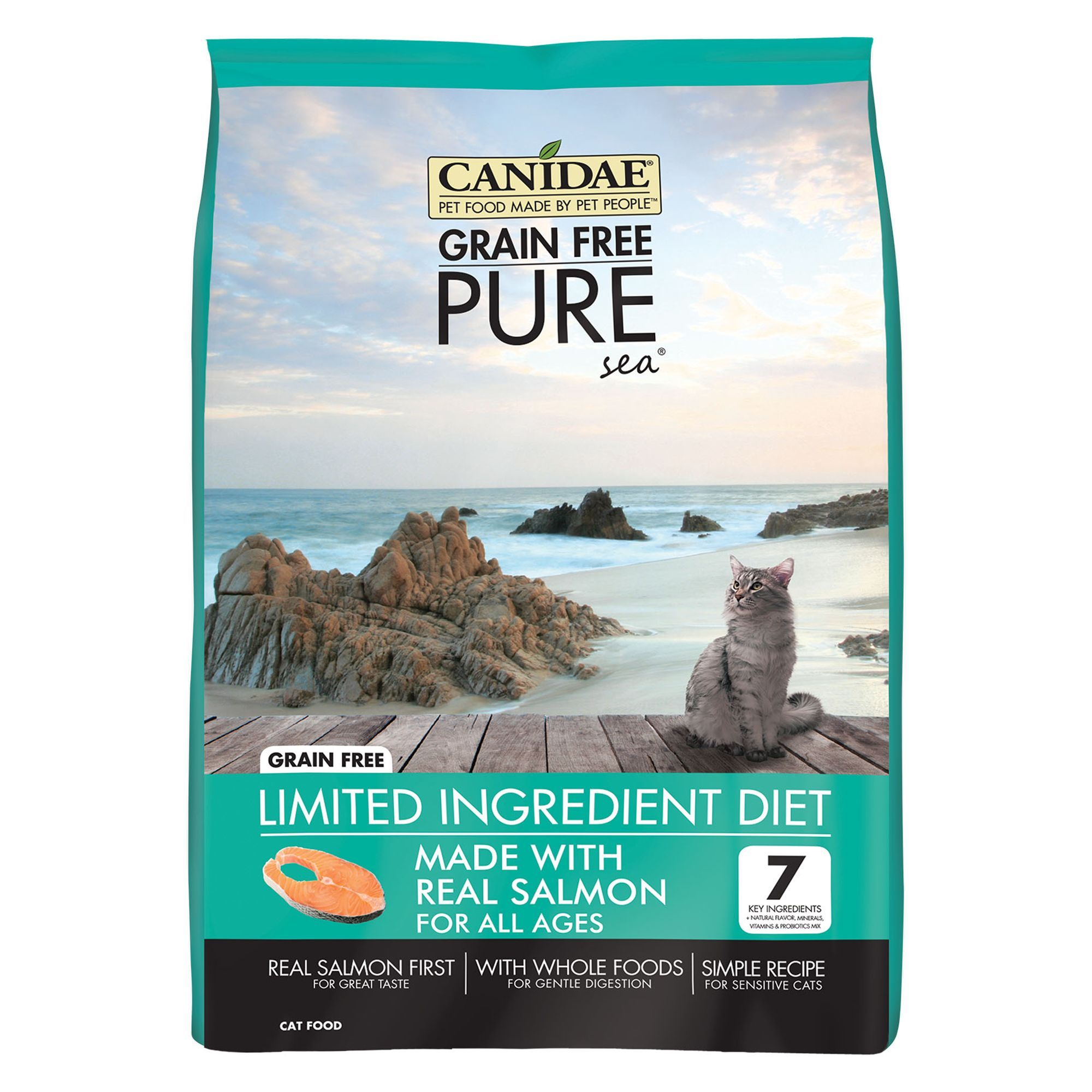 CANIDAE Pure Cat Food Limited Ingredient Diet, Natural