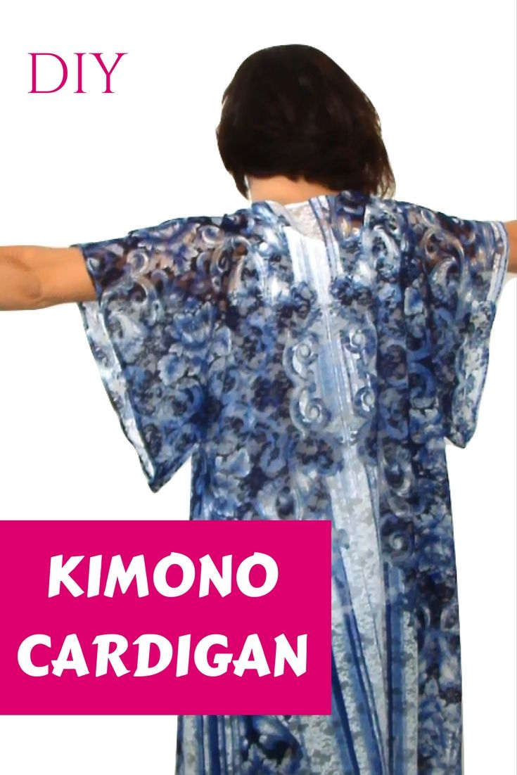 DIY KIMONO CARDIGAN (for beginners) EASY!! Learn how to make a ...