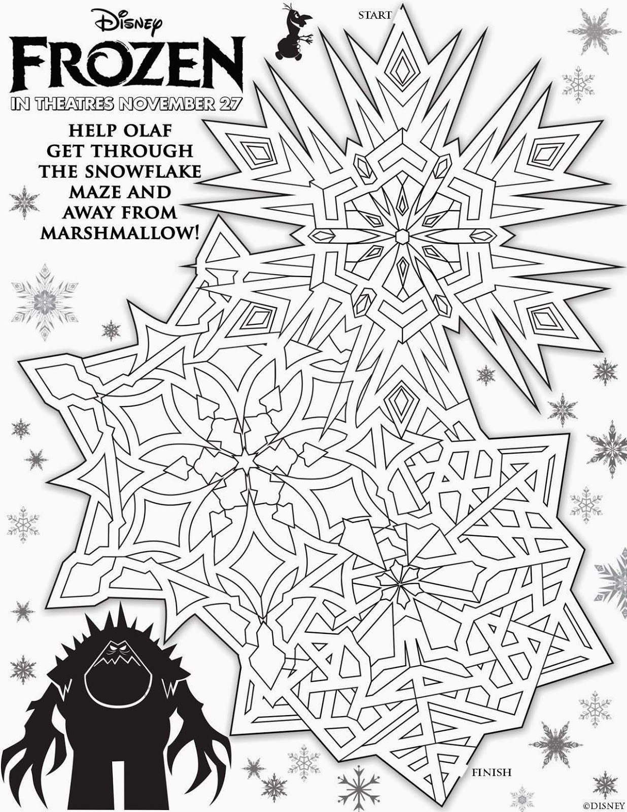Disney\'s FROZEN Free Christmas Activity Sheets {Christmas Goodies ...