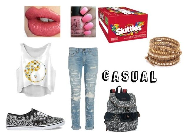 """""""Casual"""" by jdrummo on Polyvore featuring rag & bone, Vans, Charlotte Tilbury, OPI, Sakroots and Chan Luu"""