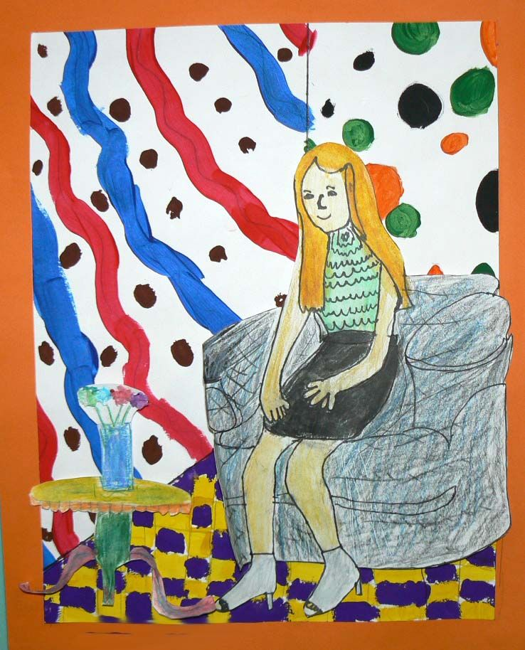 4th Grade - Matisse inspired project.