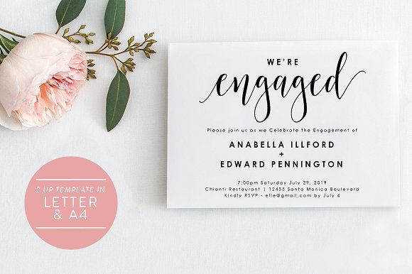 Engagement Invitation - Editable PDF Engagement party invitations