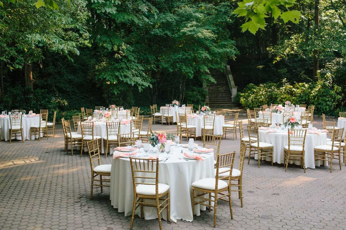 Outdoor Wedding Reception Cator Woolford Gardens Atlanta Venue