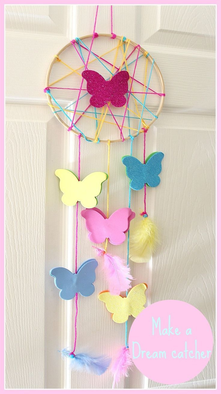 How to make a Dream catcher kids crafts Dream catcher