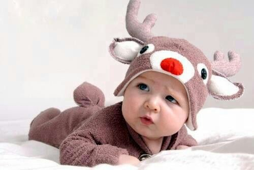 REINDEER RUDOLPH CHRISTMAS ANTLERS INFANT TODDLER COSTUME 6-12 MONTHS