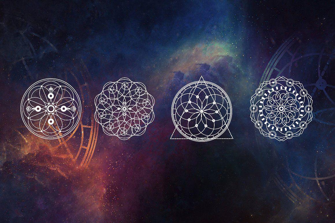 16 Sacred symbols by Aleksandra Slowik on @creativemarket