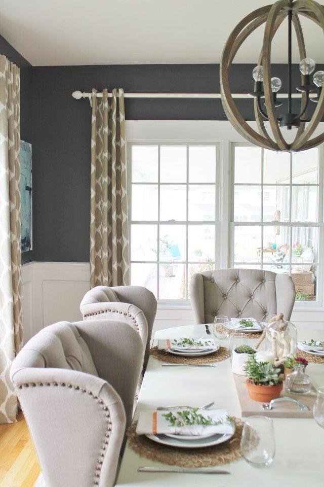 Dining Room Inspiration (Lemon Stripes)
