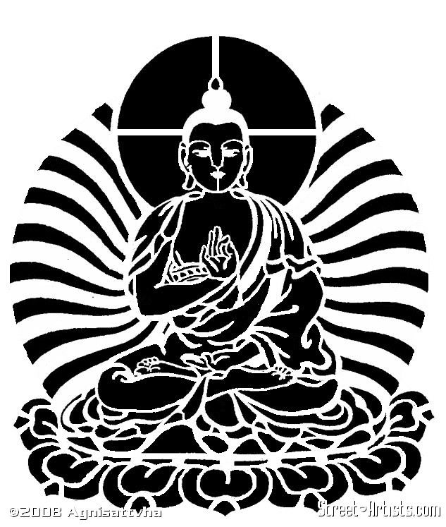 buddha stencil | Buddha Series #1 - Street-Artists.com ...