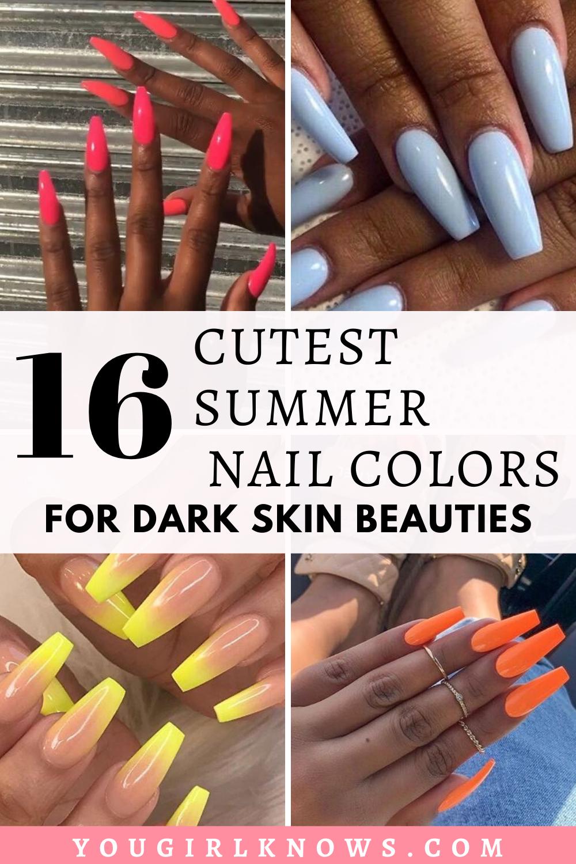 Toe Nail Colors For Dark Skin : colors, SUMMER, COLORS, BLACK, WOMEN, Colors, Skin,, Colors,