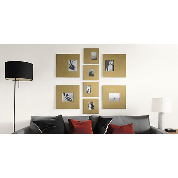Manhattan Frames in Gold | Modern picture frames, Modern pictures ...