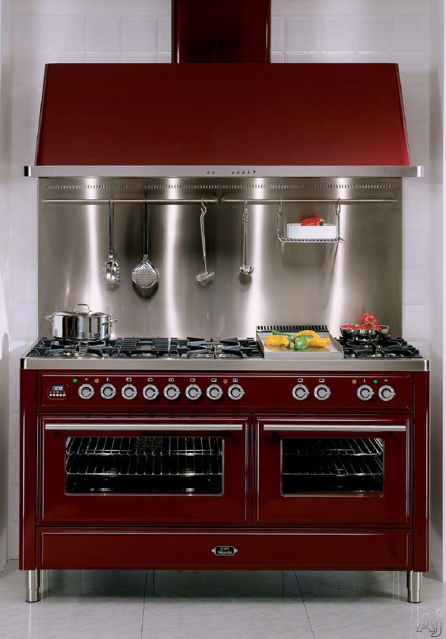 Ilve Burgundy 60 Traditional Dual Fuel Range Oven With Images Range Cooker Ilve Warming Drawer