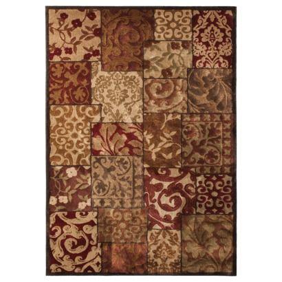 Target Area Rug Warm Colors And Soft Spiral Floral Design