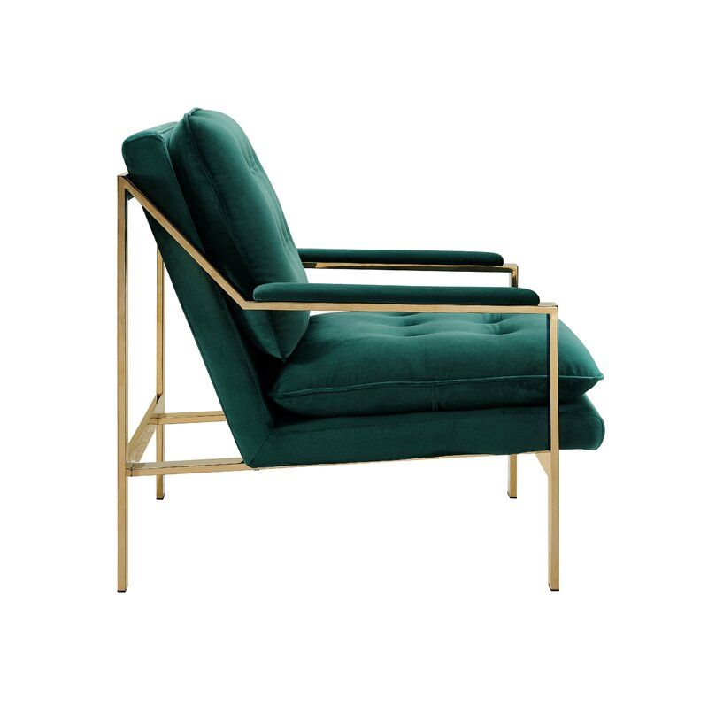 Mercer41 Heanor Armchair Ad Sponsored Affiliate Armchair Heanor Green Accent Chair Accent Chairs Green Armchair