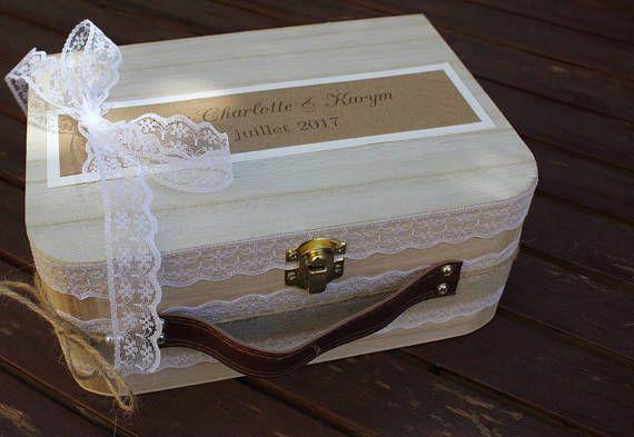 Valisette urne gamme 2 |mariage champêtre chic|