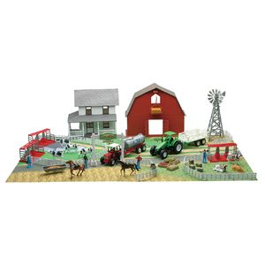 New-Ray Farm Play Set Barn House and Play Mat Toy