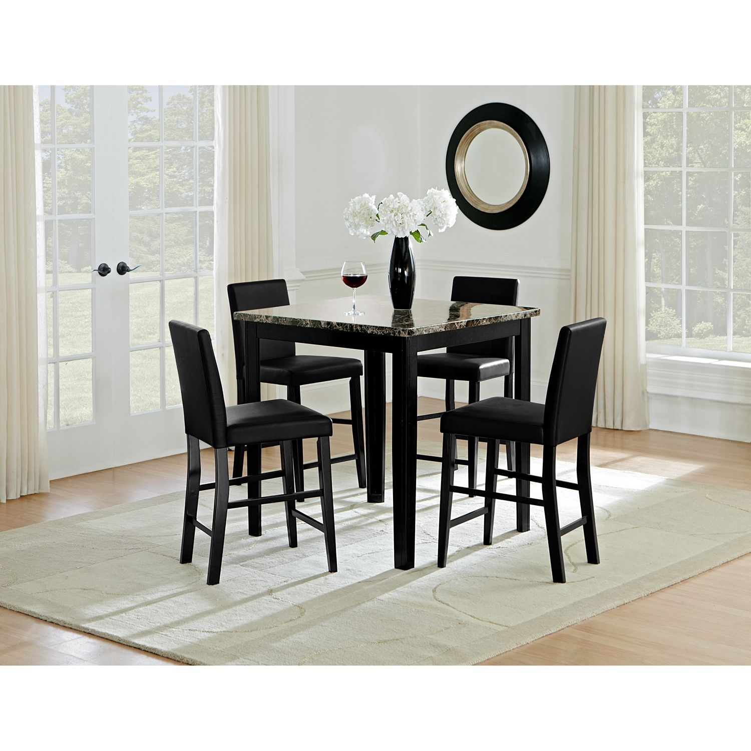 Shadow Counter Height Dining Table And 4 Dining Chairs In 2020 Dining Room Design Dining Room Table Dining Room Table Chairs