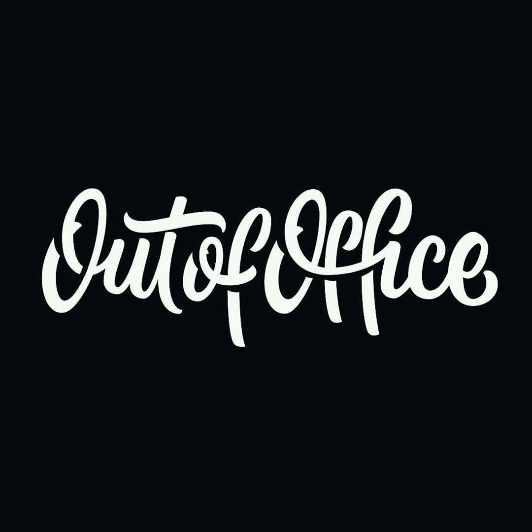 Out of office great type work by @wellscollins __ Featured by @thedailytype #thedailytype Learning stuffs via: www.learntype.today __ by thedailytype