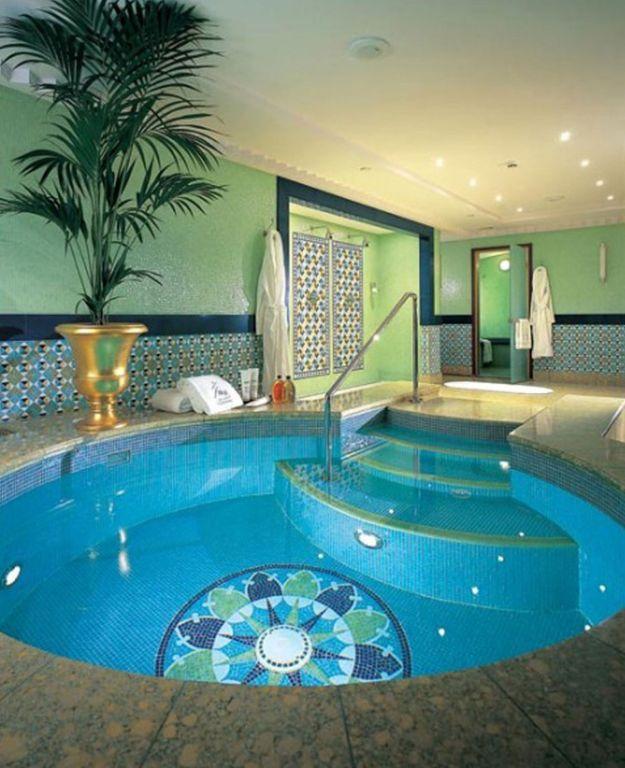 Swimming pool residential indoor pool ideas swimming in a for Small indoor swimming pool