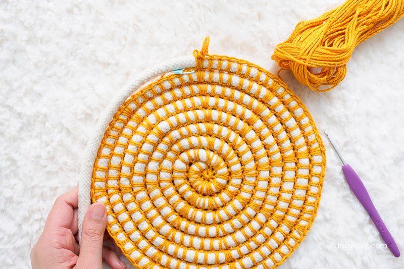 Colorwheel: DIY Coiled Crochet Basket - One Dog Woof