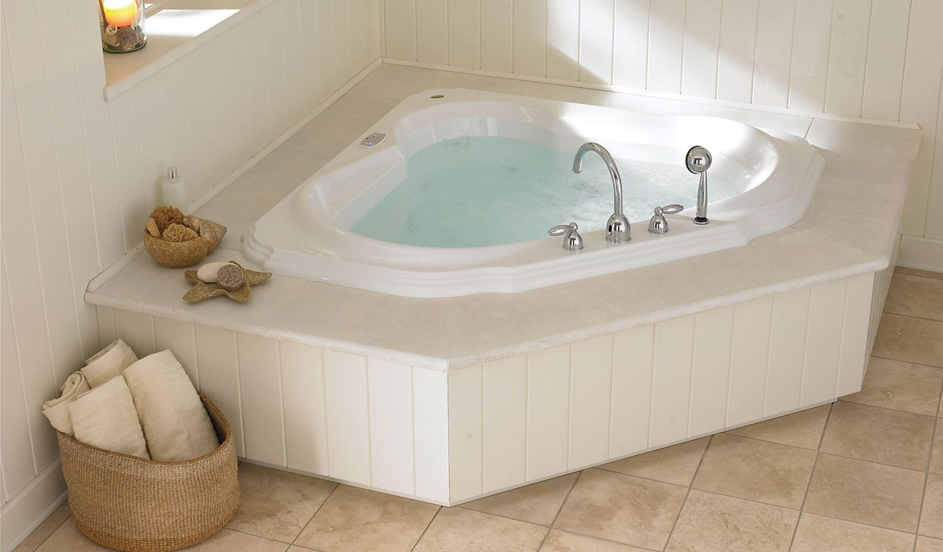 Bellavista Corner Bath With Images Corner Jacuzzi Tub