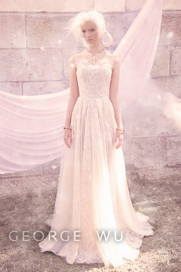 Azarias Dress, featuring French lace from the George Wu \'Sancta ...