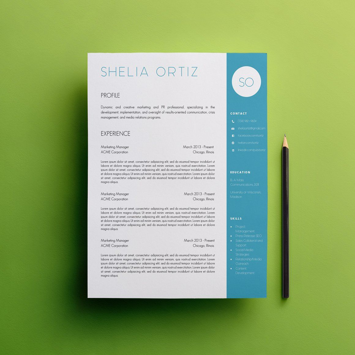 Resume  Cover Letter Template  Resumes  Creative Resumes At