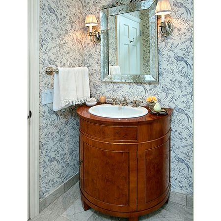 Best Demilune Sink Base 31 Custom Bathroom Powder Room 400 x 300