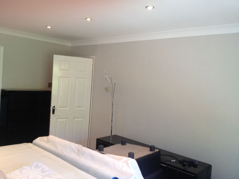 Living Room Wall Colours Grey How To Make Furniture Crown Snowfall - Paint Idea | Pinterest ...