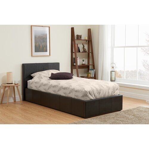 Berlin Upholstered Ottoman Bed Home Haus Colour Brown Size Double 4 6 Ottoman Bed Upholstered Ottoman Upholstered Bed Frame