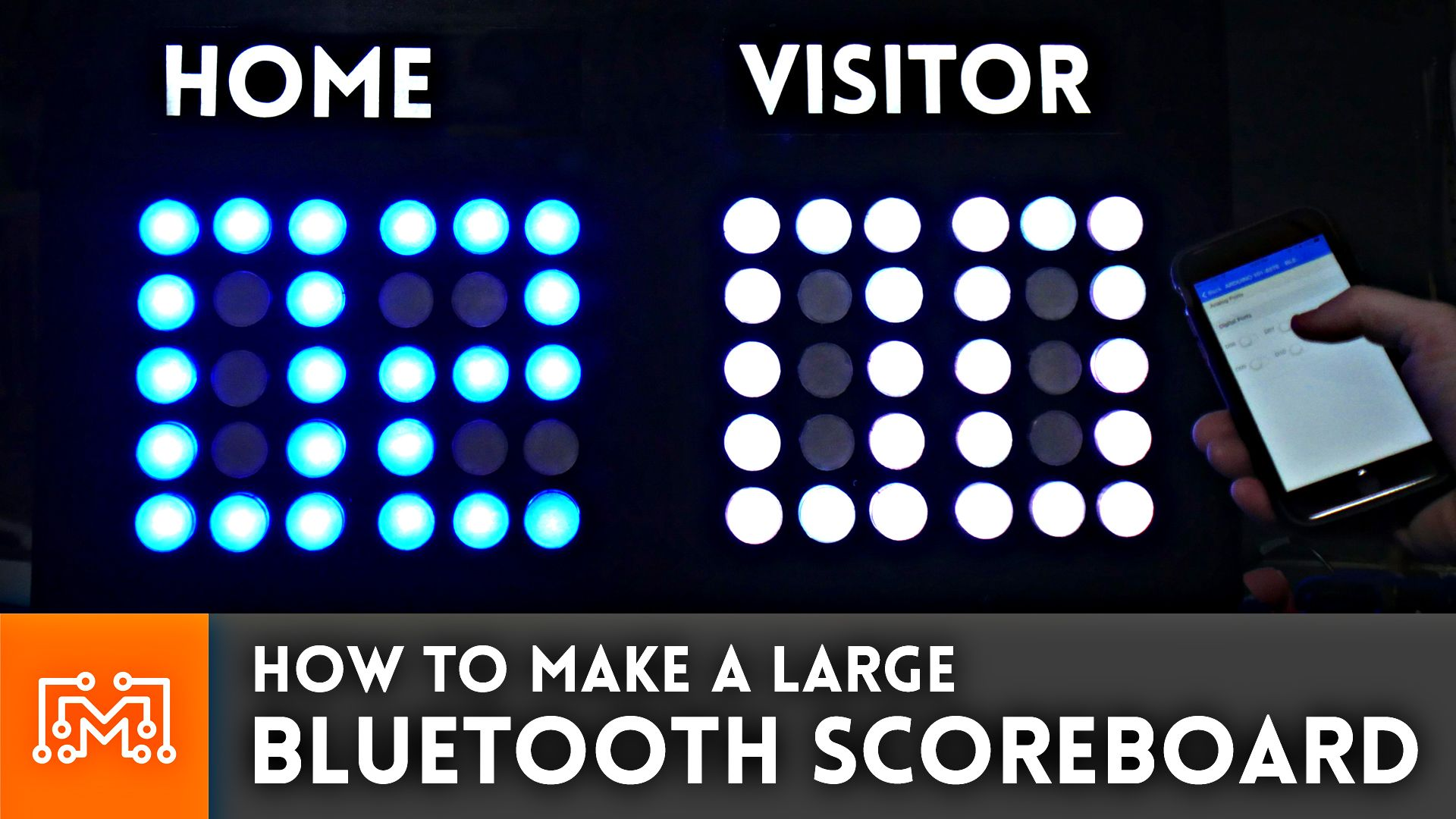 How To Make A Large Bluetooth Scoreboard Arduino Projects Diy Scoreboard Printing Supplies