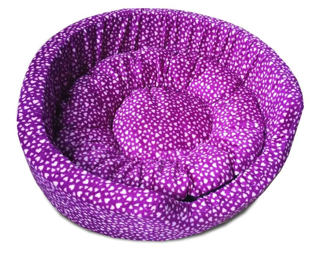 Dog Round Bed Medium Purple Dog Beds Purple dog bed
