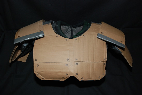 Gallery for cardboard armor ideas for psr kids for Cardboard armour template