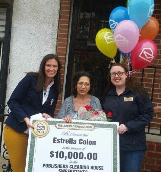 Publishers Clearing House Winners: Estrella Colon from Philadelphia
