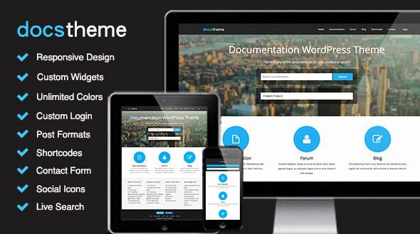 Documentation wordpress theme co wp documentation wordpress theme create online documentation for your product or service fast powerful yet pronofoot35fo Image collections