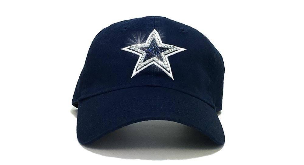0055c0175fc Dallas Cowboys  47 Brand Adjustable Cap + Swarovski Crystals ...