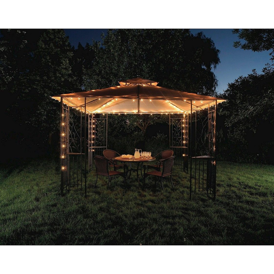 Outdoor Gazebo Lighting Beauteous Threshold  Ul 140Ct Gazebo Light  For The Home  Pinterest