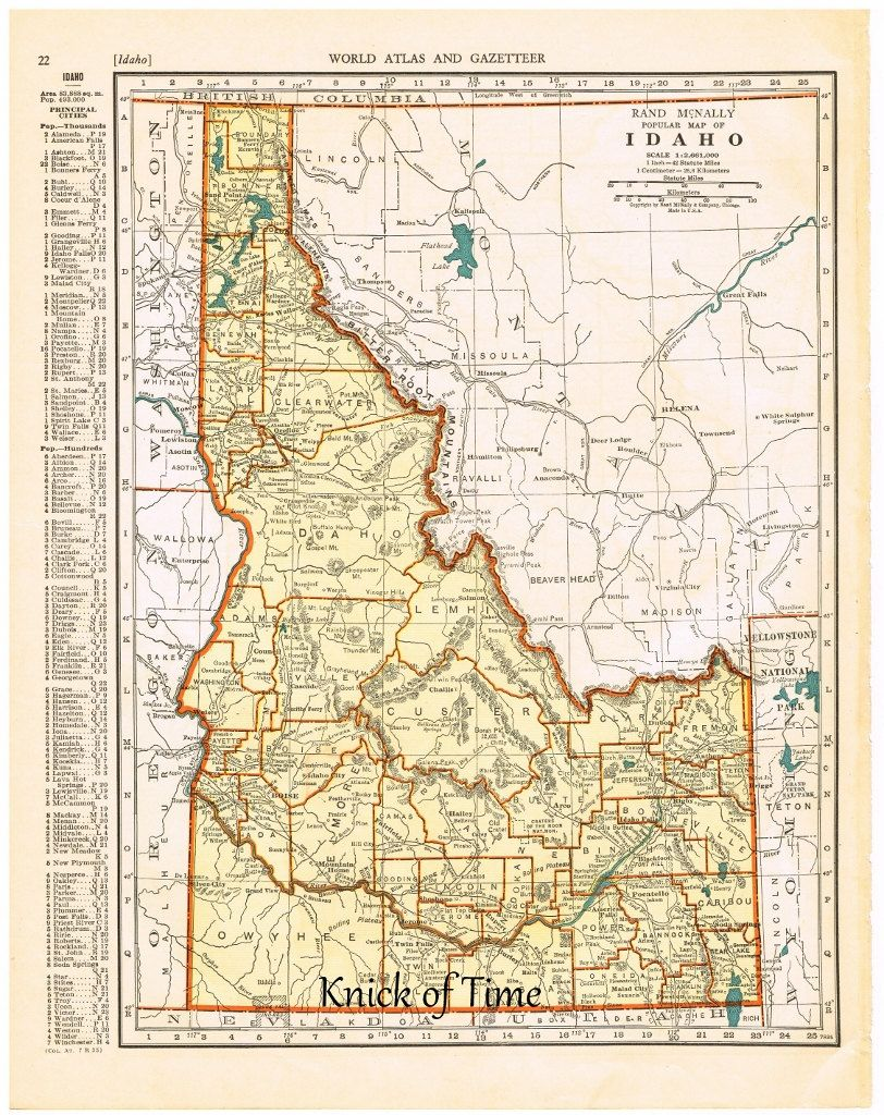 Antique Map IDAHO Map Page Buy Maps Get FREE - Where to buy antique maps
