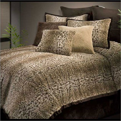 Veratex Cheetah Fur Comforter Set     7364254381   Air Beds, Sheets,  Mattresses, And Bedding Accessories