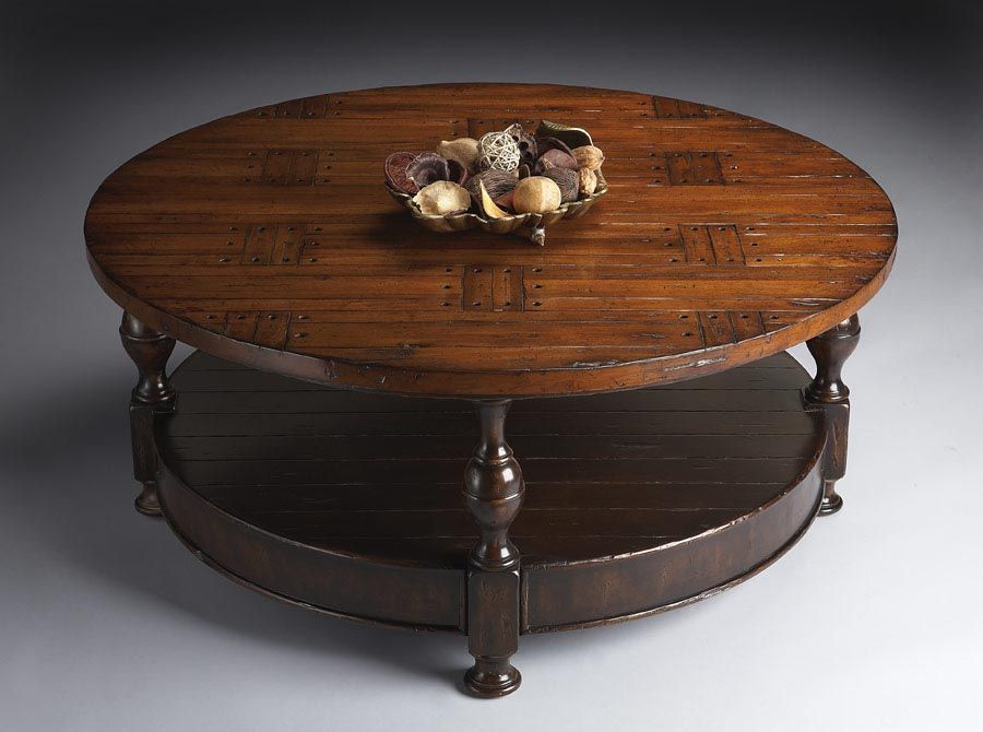 round distressed coffee table - Distressed Round Coffee Tables