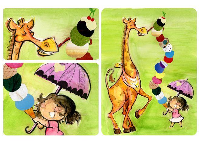 Ice cream giraffe - Genevieve Santos
