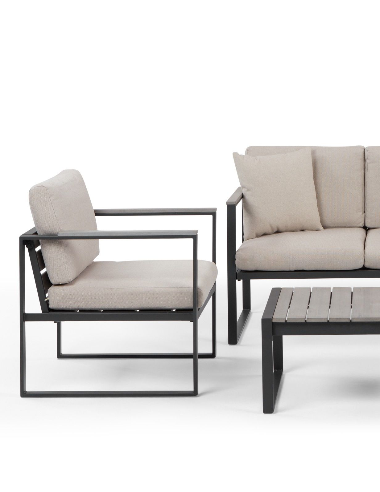 the catania lounge set in grey and beige stylish outdoor. Black Bedroom Furniture Sets. Home Design Ideas