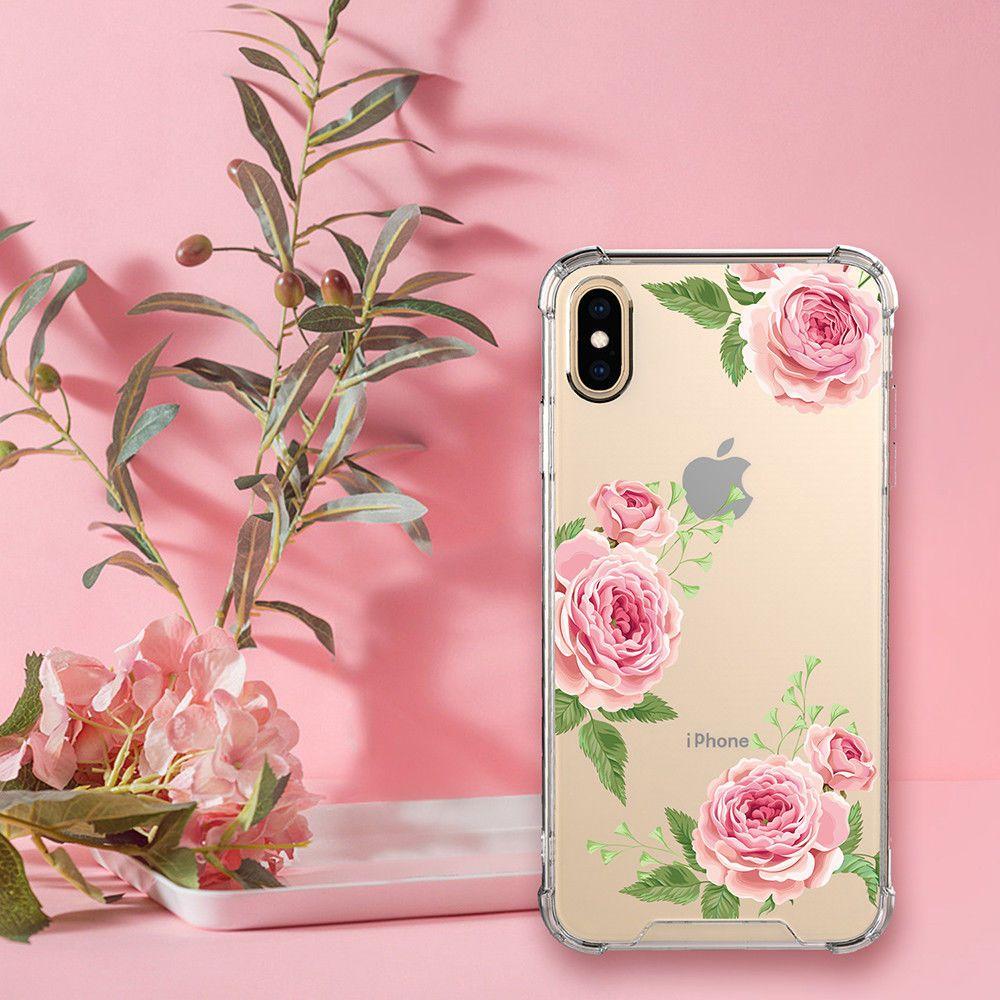 For iphone 11promaxxs maxxr phone case flowers clear